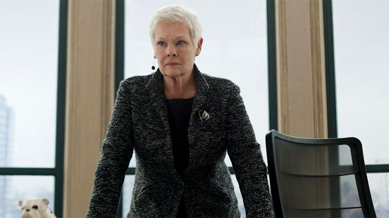 Judi Dench as M in Sony Pictures Canada's 'Skyfall'