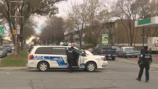 Police cordon Montreal