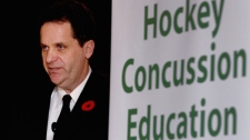 Dr. Paul Echlin speaks a press conference in Toronto on Monday November 1, 2010. (Frank Gunn / THE CANADIAN PRESS.