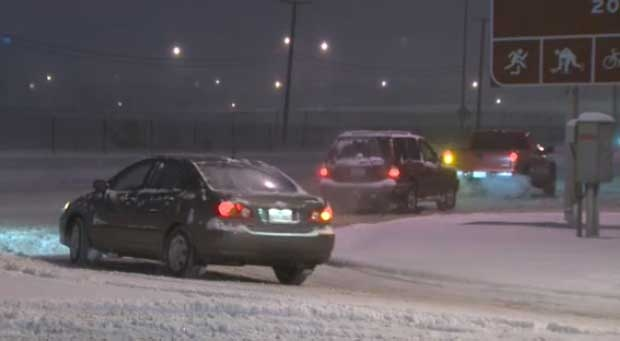 Many routes in Calgary are covered in snow, but the city says they won't be issuing a snow ban.