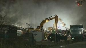 CTV Montreal: Examining debris of blown-up factory