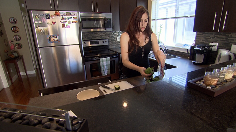 Rebecca Lanyon, who has a severe strawberry allergy, says she was mistreated by Air Canada on a recent flight.
