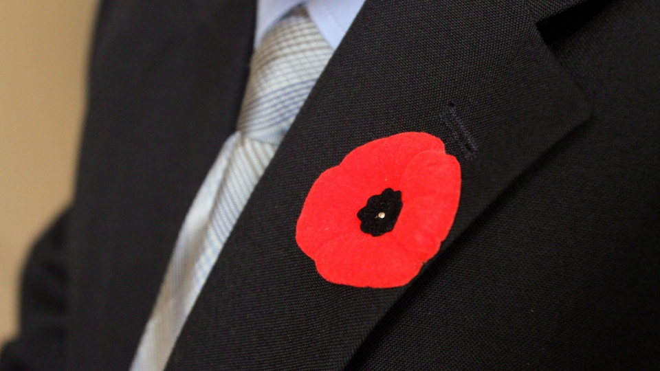 This Remembrance Day, employees at Canadian McDonald's restaurants will be allowed to sport poppies behind the counter thanks to a small, but novel addition to the symbolic pin. (Lars Hagberg / THE CANADIAN PRESS)