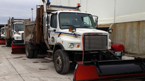 The City of Winnipeg said it has between 50 and 60 snow plows and 100 people on standby to deal with the storm expected to hit on the Nov. 10, 2012 weekend.