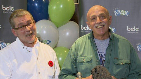 Claude and Kurt Blanchette-Ebert, who have been together for 30 years, have won B.C.'s biggest-ever lottery prize. Nov. 2, 2010. (CTV)