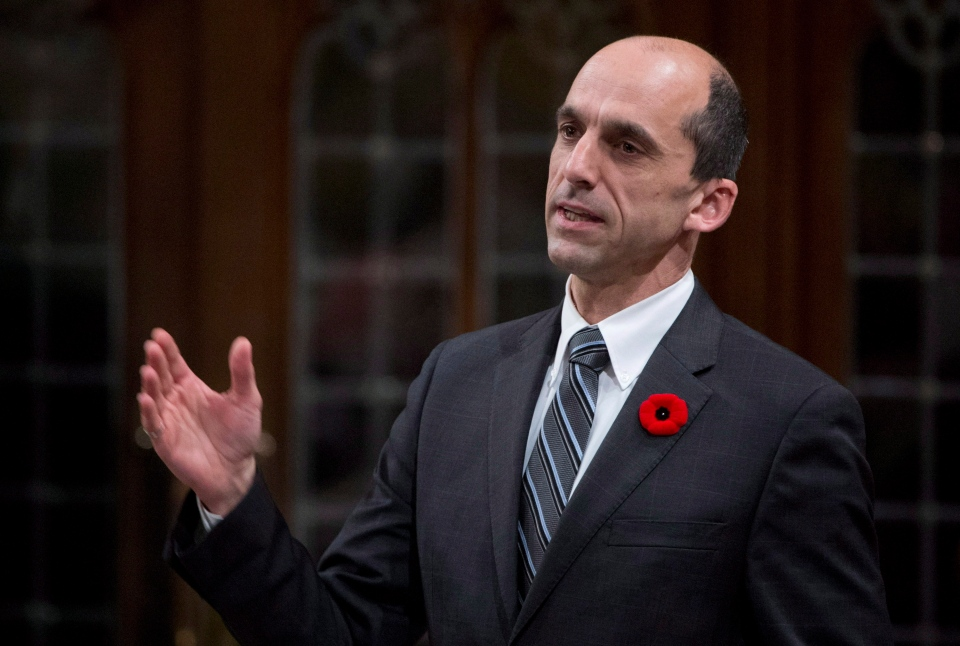 Veterans Affairs Minister Steven Blaney announced a new smartphone app aimed to help cope with PTSD on Monday, May 6, 2013. (Adrian Wyld / THE CANADIAN PRESS)