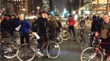 Cyclist vigil