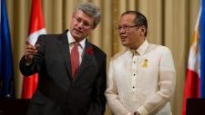 Harper, Aquino in Manila Philippines, Nov 10, 2012