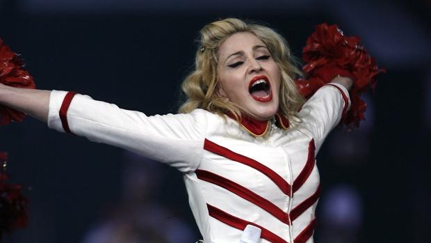 Madonna in Detroit on Nov. 8, 2012.