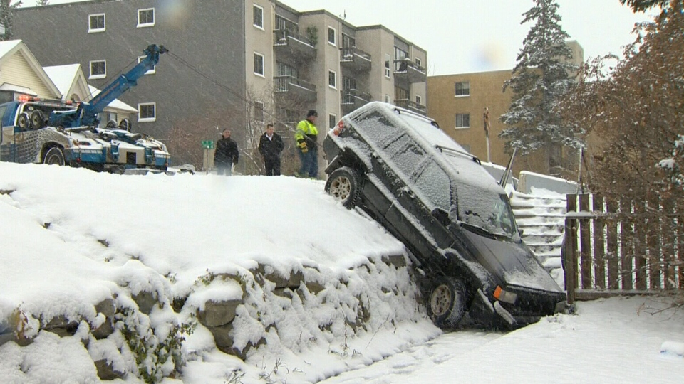 Hundreds of crashes reported due to snowy and icy weather in Calgary.