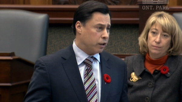 Ontario Energy Minister Brad Duguid in the Queen's Park legislature chambers on Monday, Nov. 1, 2010.