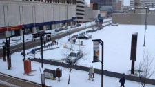 snow in Winnipeg