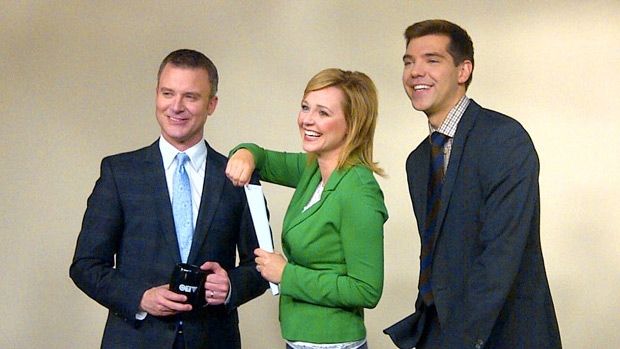 On Nov. 12, new anchor Stacey Brotzel and weather specialist Jesse Beyer join Rob WIlliams on CTV Morning Live.