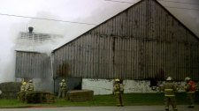 Fire at Snyders Family Farm