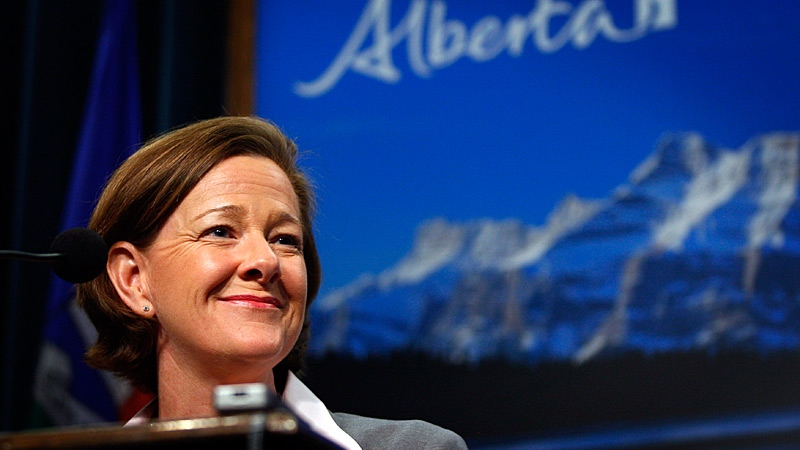 Alberta Premier Alison Redford is facing accusations of a conflict of interest. (Jeff McIntosh / THE CANADIAN PRESS)