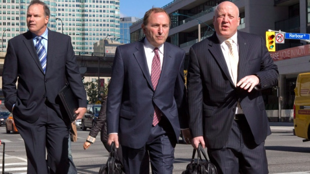 Garry Bettman arrives in Toronto
