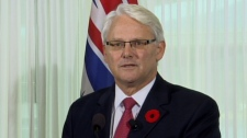 B.C. Premier Gordon Campbell said he would step down as leader of the BC Liberal party on Nov. 3, 2010. (CTV)