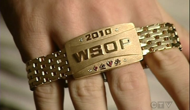 Quebecers Miguel Proulx and Pascal Lefran�ois won these bracelets during this year's World Series of Poker.
