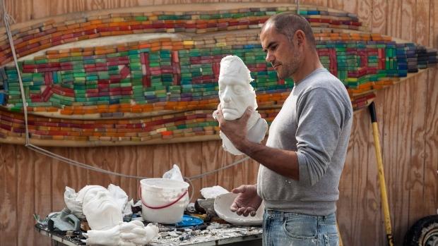 Artist and veteran Marcus Eriksen on Nov. 8, 2012
