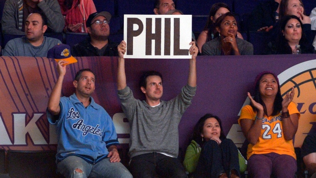 Fan sign at a Lakers' game Nov. 9, 2012.