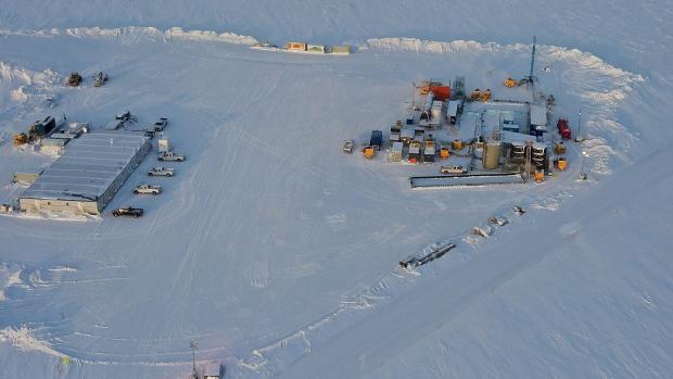 Drill rig at Prudhoe Bay, Alaska.