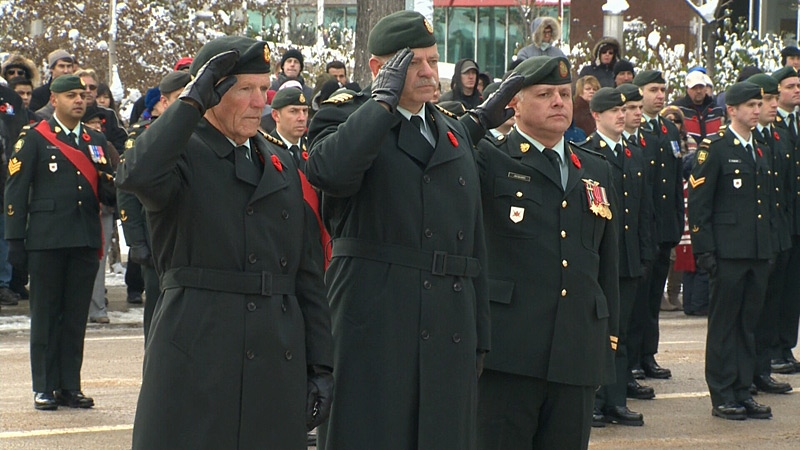Edmontonians attended several ceremonies on Remembrance Day, pausing to reflect and pay tribute to Canada's soldiers.