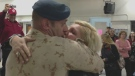 Sgt. Matthew Maxwell embraces his wife at CFB Trenton on Nov. 11, 2012. Maxwell returned on Sunday after serving in Afghanistan for 13 months.