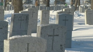 CTV National News: Laying wreaths in snow