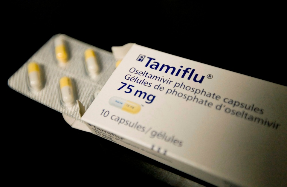 A box of Tamiflu is seen in a Toronto health clinic, Thursday, April 30, 2009. (Darren Calabrese / THE CANADIAN PRESS)