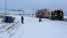 Rollover on Lagimodiere