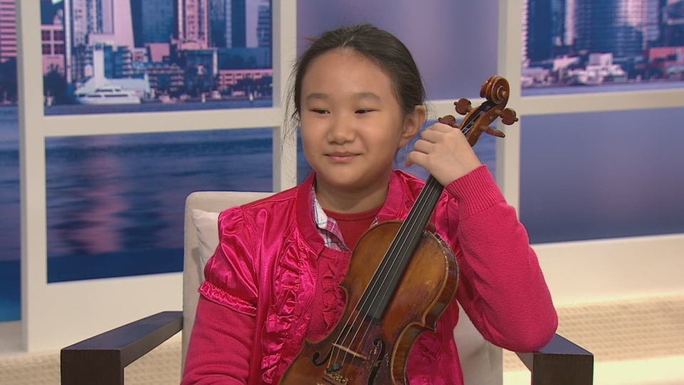 Canadian violinist Mercedes Cheung discussed her upcoming debut at New York's Carnegie Hall on CTV's Canada AM on Nov. 12, 2012.