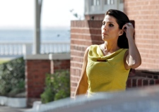 Jill Kelley leaving her home in Florida