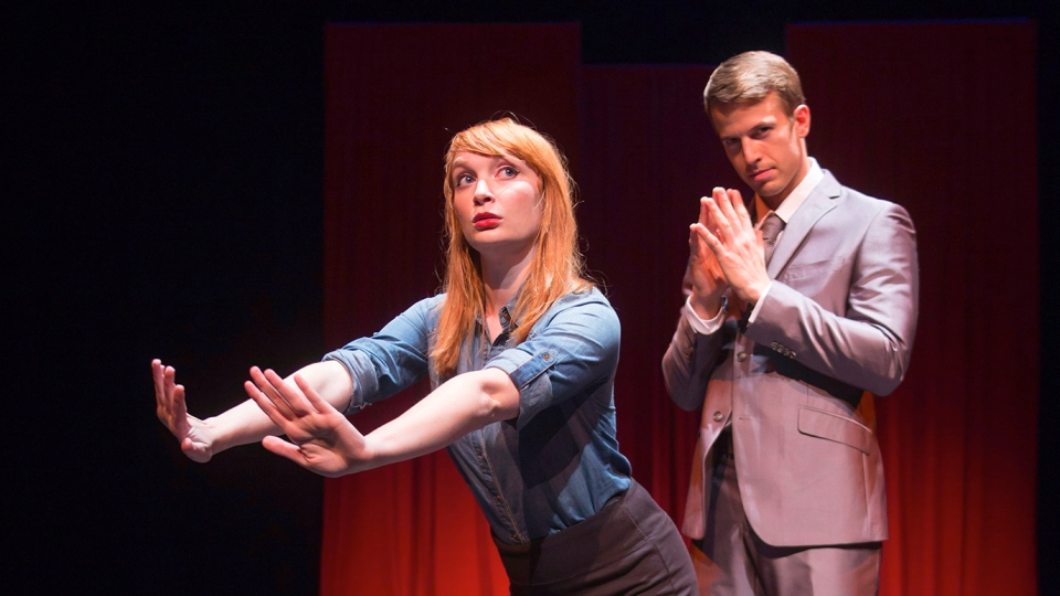 "Actors Alice Moran and Patrick Whalen, the stars of ""SPANK! The Fifty Shades Parody,"" are shown in a handout photo. (Paul Schnaittacher / THE CANADIAN PRESS)"
