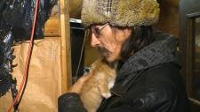 Dan Lapotac with a kitten
