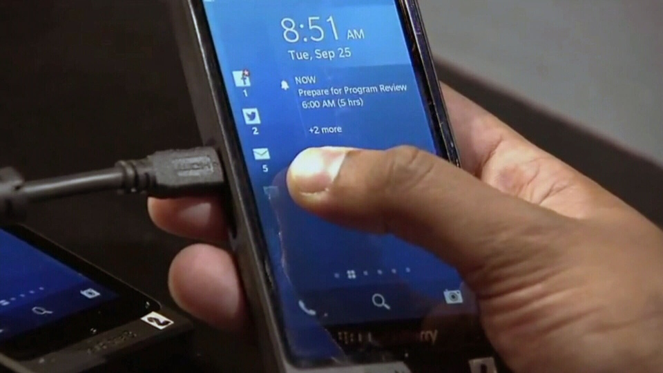 Representatives for the Waterloo, Ont.-based Research In Motion say the company's new line of smartphones will be launched in January 2013.