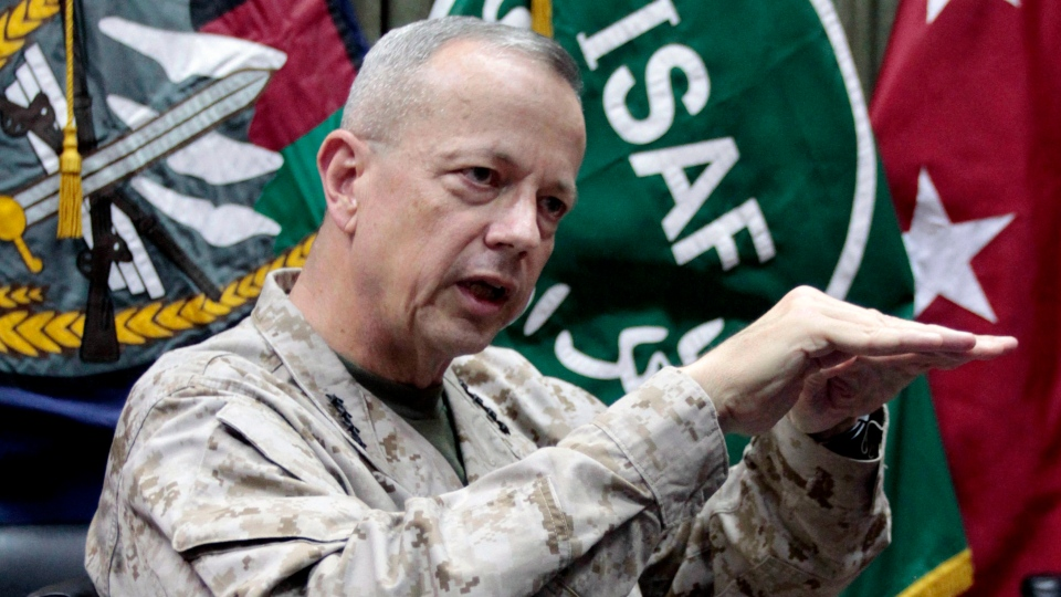 U.S. Gen. John Allen, top commander of the NATO-led International Security Assistance Forces (ISAF) and U.S. forces in Afghanistan, during an interview with The Associated Press in Kabul, Afghanistan, July 22, 2012. (AP / Musadeq Sadeq)