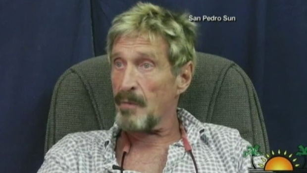 CTV News Channel: McAfee now 'person of interest'