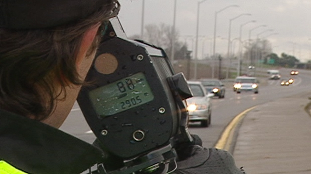 Ottawa police check motorist speeds on Bronson Avenue Tuesday, Nov. 13, 2012.