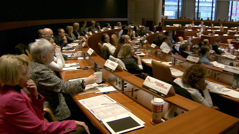Anti-bullying advocates gather at a conference in Vancouver, Tuesday, Nov. 13, 2012.
