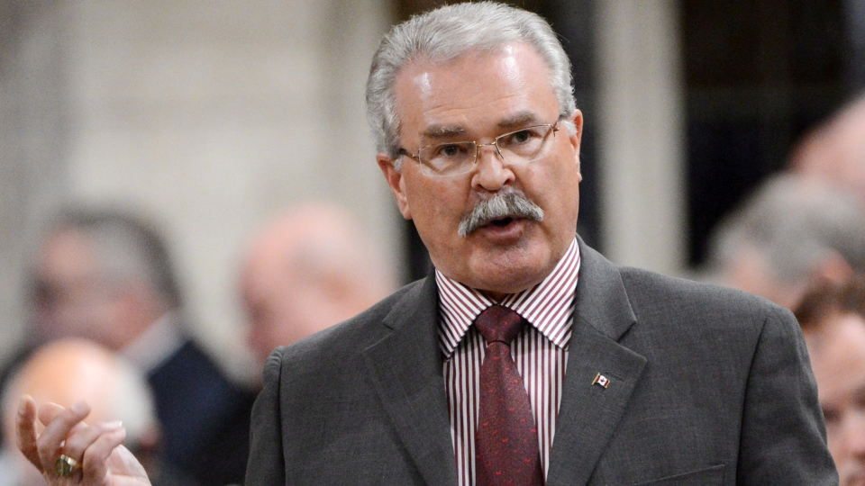 Agriculture Minister Gerry Ritz responds to a question during Question Period in the House of Commons on Parliament Hill in Ottawa on Monday, Oct. 22, 2012. (Sean Kilpatrick / THE CANADIAN PRESS)