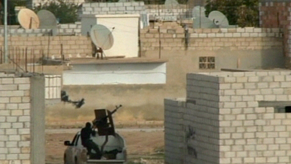 The Syrian Air Force continued to target rebel-held territory near the Turkish border, Tuesday, Nov. 13, 2012.
