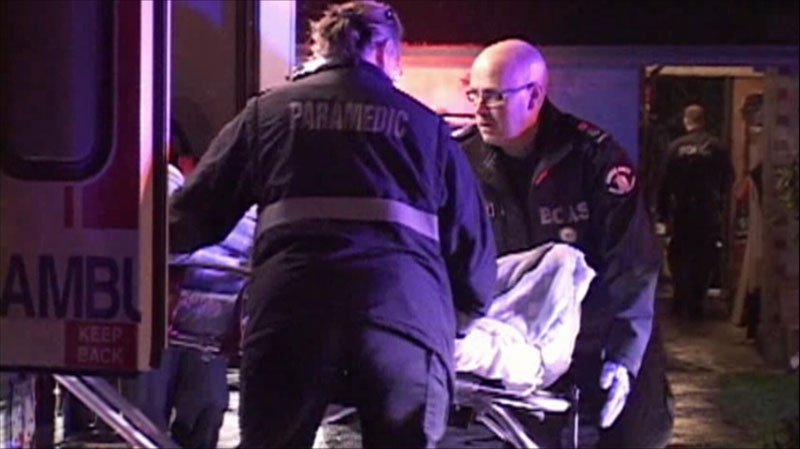 Mounties are investigating after a Surrey man was shot outside his home Tuesday night. Nov. 13, 2012. (CTV)