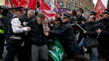 Clash on Oxford Street in London