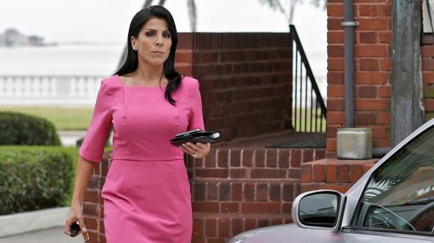 Jill Kelley leaves her home in Tampa, Fla., on Tuesday, Nov 13, 2012. (AP / Chris O'Meara)