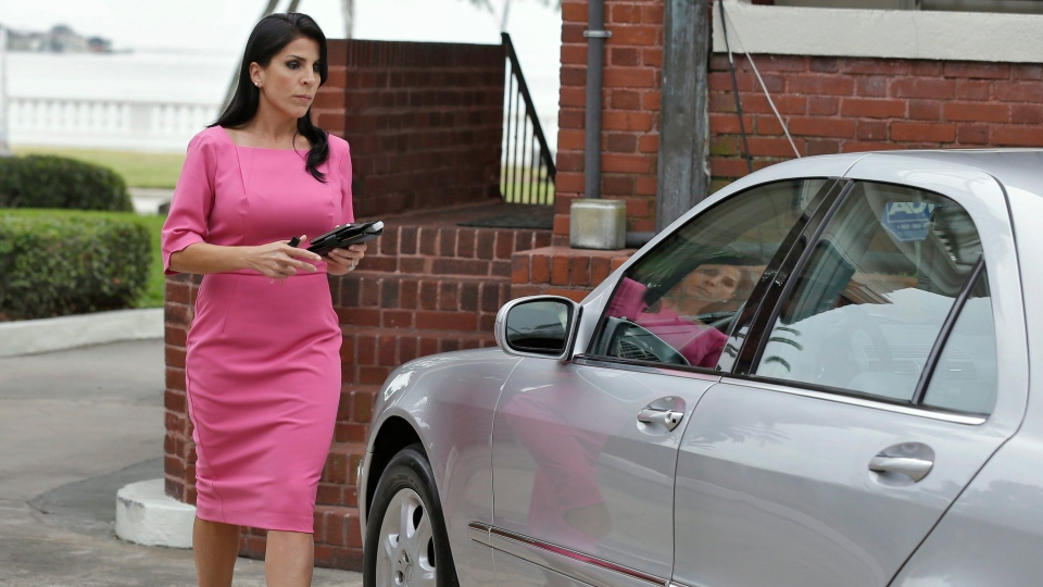Jill Kelley leaves her home in Tampa, Fla., Tuesday, Nov. 13, 2012 .  (AP / Chris O'Meara)