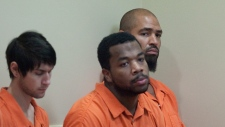 Jerramy Stevens, right, in court, Nov. 13, 2012.