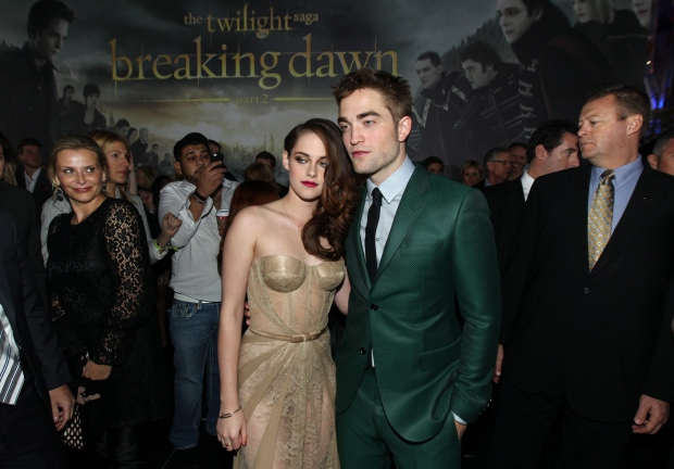 Kristen Stewart, left, and Robert Pattinson