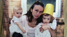 Elaine Campione is seen with her two daughters, left to right, Sophia, 19 months, and Serena, 3, in this undated photo handed out by the court in Barrie, Ont., on Thursday, November 4, 2010. (THE CANADIAN PRESS/HO)