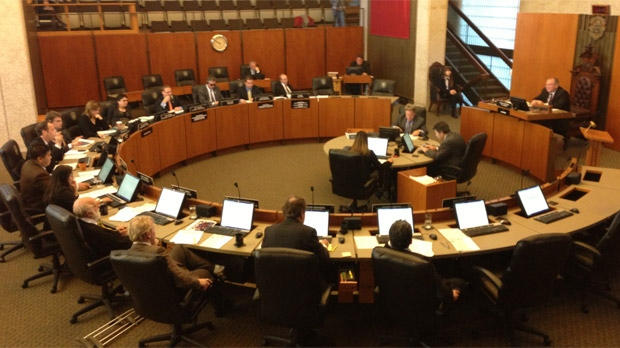 Winnipeg city council is shown in a file image.