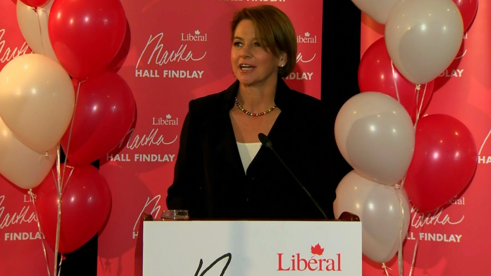 Martha Hall Findlay launches her Liberal leadership campaign in Calgary on  Wednesday, Nov. 14, 2012.